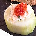 Tapas de concombre au saumon
