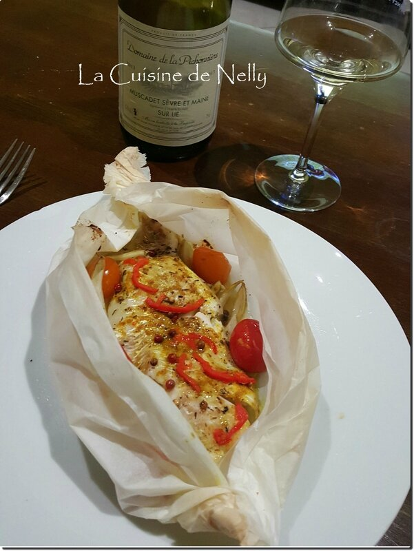 Papillote cabillaud curryfenouil
