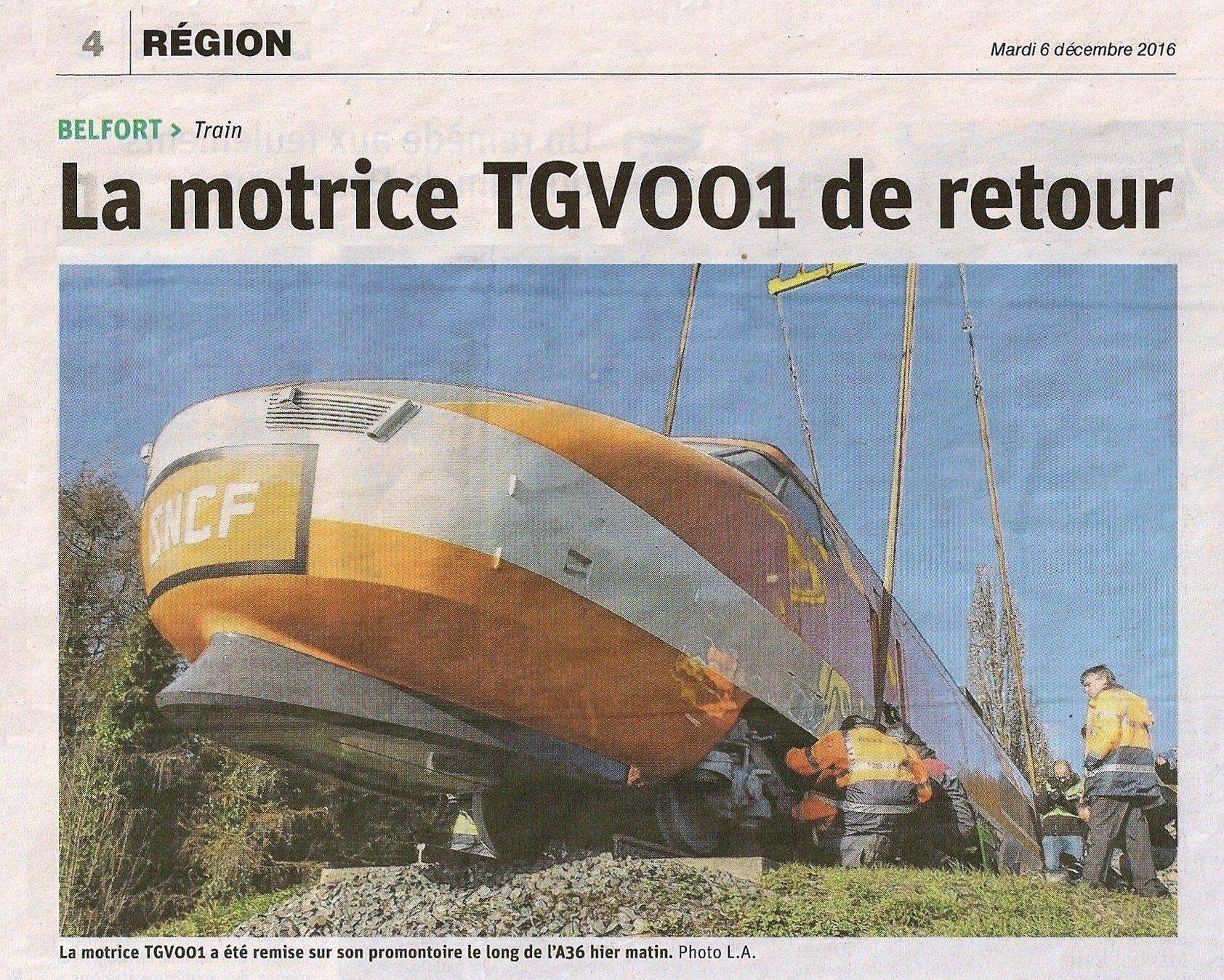 TGV-001, le début d'une longue histoire