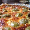 Quiche aux olives vertes et à la tomate