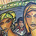 Portraits dans l'exposition couleurs caraïbes, à chilly-mazarin (91)