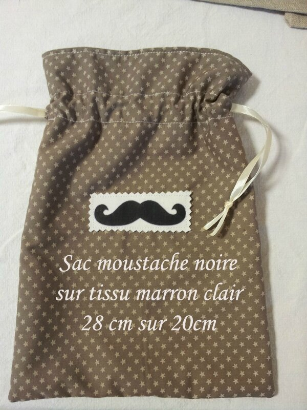 Sac moustache marron clair copy