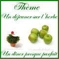 Déco de table vert ivoire et chocolat coeurdartichaut