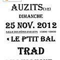 P'tit bal trad du dimanche 25.11.2012 auzits