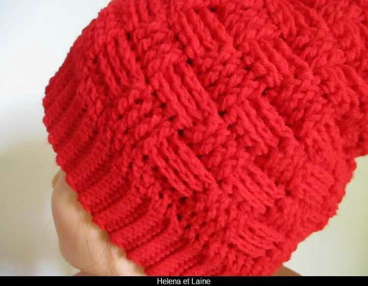 Bonnet rouge point panier et pompon3