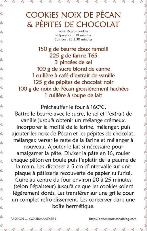 Cookies noix de Pécan & pépites de chocolat_fiche