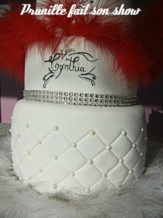détail wedding cake princesse chic glam prunillefee