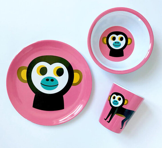 assiette-ingela-p-arrhenius-monkey
