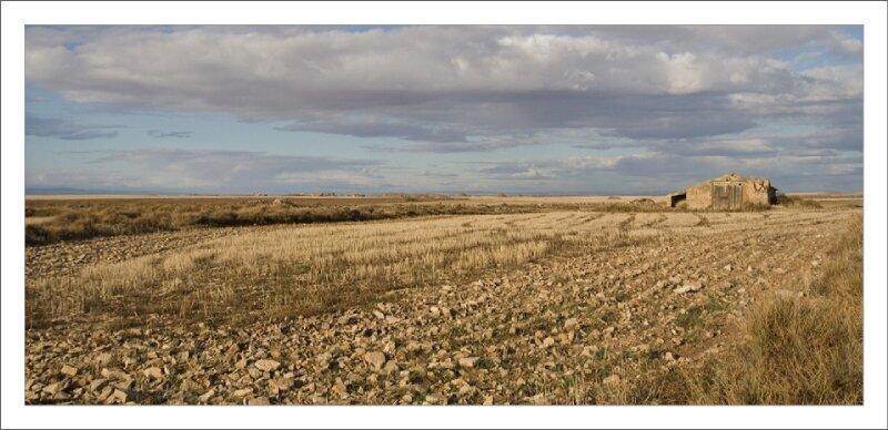 Aragon Ebro cabane champ ciel 211009 4