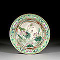 A small famille rose basin, china, qing dynasty, second half of 19th century
