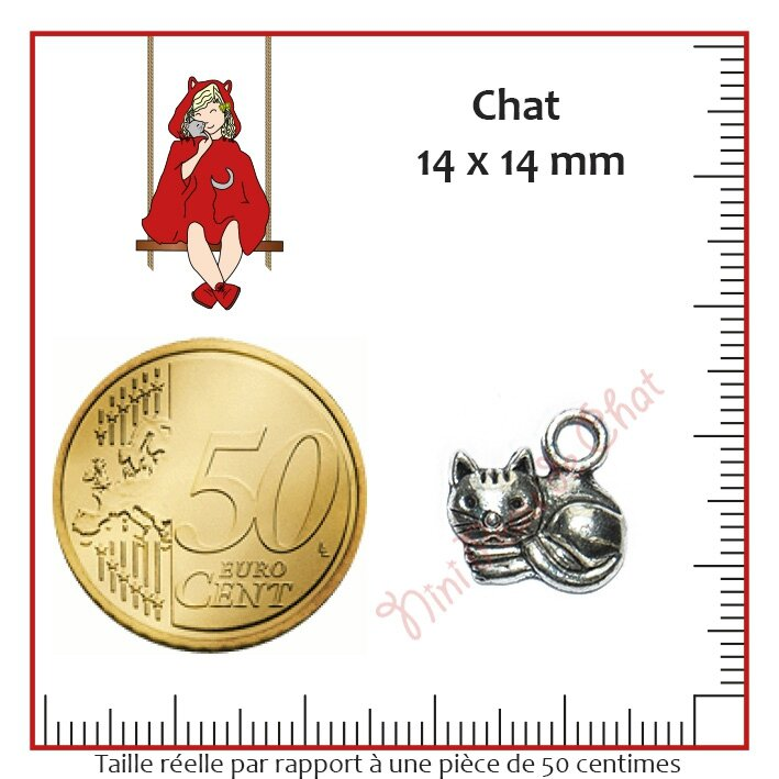 Chat 14 x 14 mm
