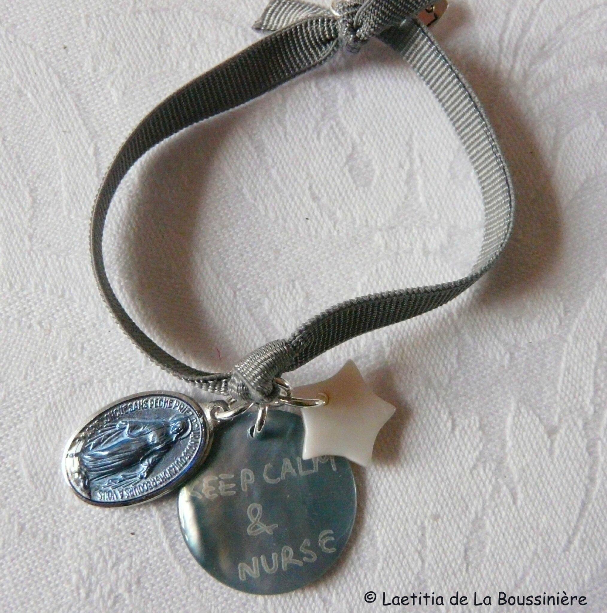 Bracelet d'allaitement Marie (bleu clair)