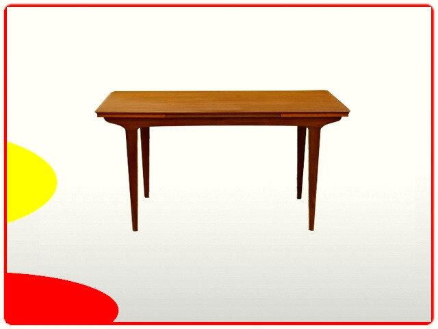 Table à rallonges teck scandinave