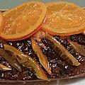 Cake orange confite