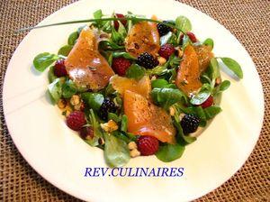 salade de truite fumée aux fruits rouges 1
