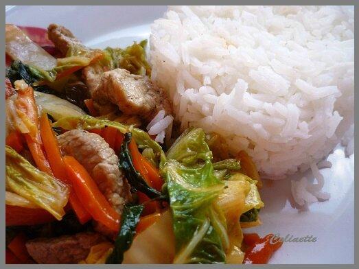 wok de porc et Pé tsaï 01