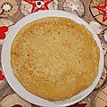 Crêpes au lait de soja et à la farine d'épeautre