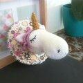 Trophée licorne crochet