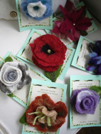 fleurs laine feutrée 001