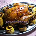Chapon aux marrons, farce à la truffe, pommes au four et compote de cranberries - 🎄 calendrier de l'avent 2015 #24 -