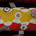 Housse de coussin - tissu japonais - modèle de création - réversible lin naturel -