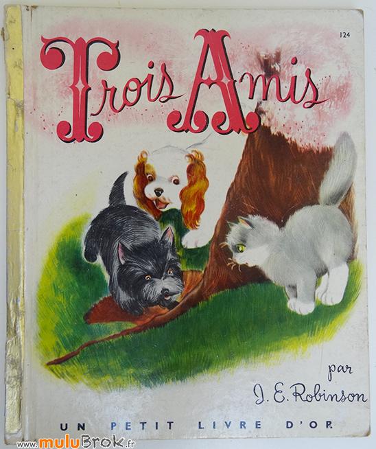 TROIS-AMIS-Petit-livre-d'or-1-muluBrok-Vintage