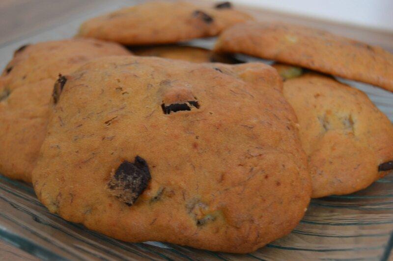 Cookie banane pépites de chocolat
