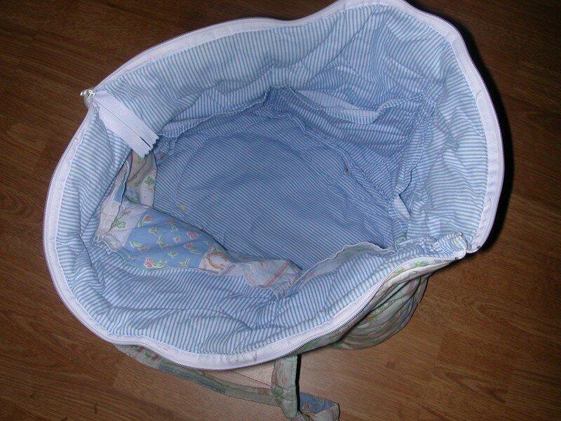 interieur du sac