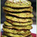 Blinis de soja vert à la roquette et au thé matcha