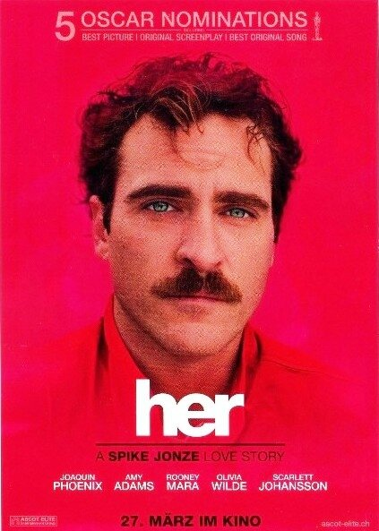 Carte cinema film Her
