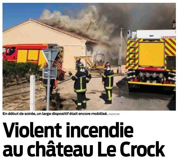 2018 08 03 SO Violent incendie au Château le Crock