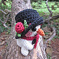 Test crochet - snowy snowman...