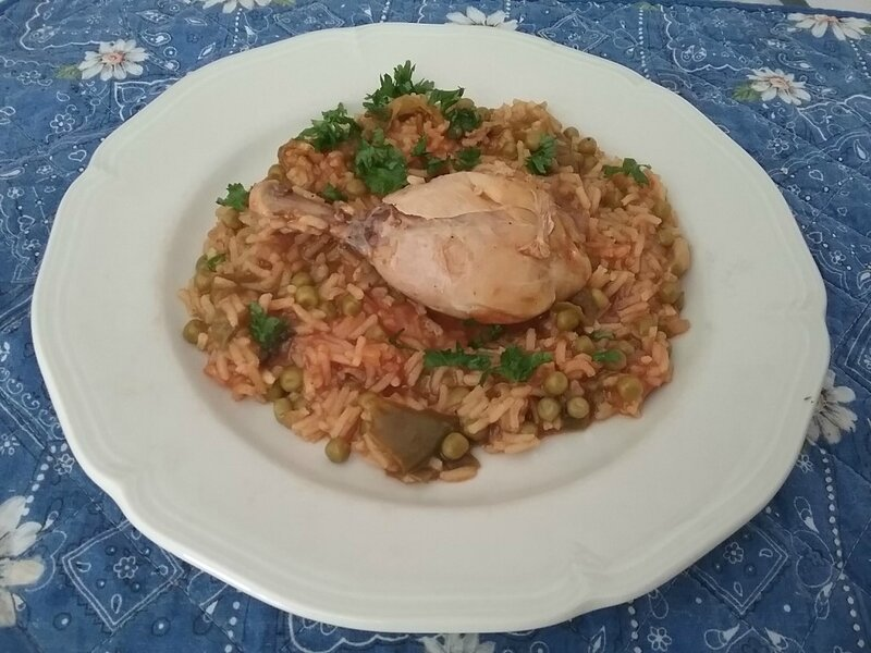 Riz juteux au poulet 1