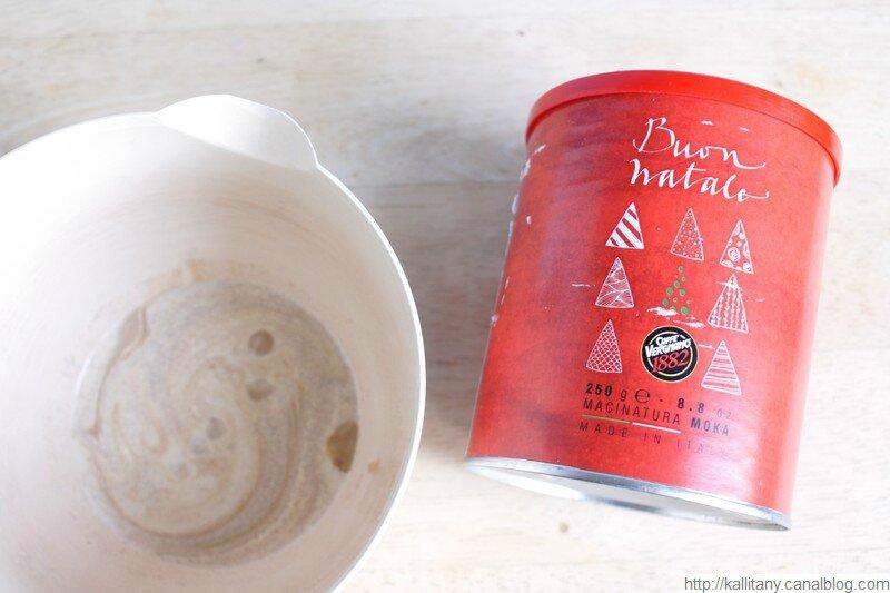 Blog culinaire Kallitany - Recette dessert couronne Noël chocolat café (3)