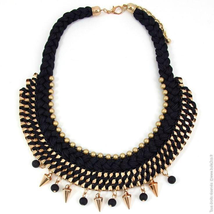 astuces mode fabriquer son collier plastron bijoux personnalis s et tendances. Black Bedroom Furniture Sets. Home Design Ideas