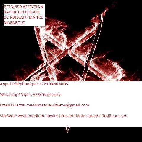 RETOUR D'AFFECTION RAPIDE ET EFFICACE DU PUISSANT MAITRE MARABOUT