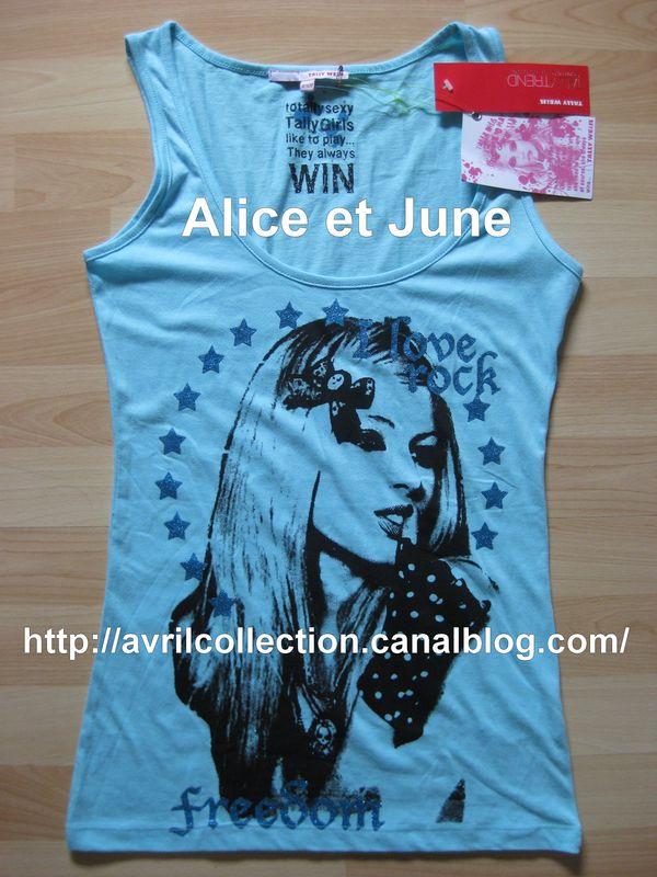 Débardeurs Avril Lavigne-Tally Weijl store exclusive