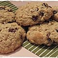 Cookies au chocolat blanc et aux cranberries
