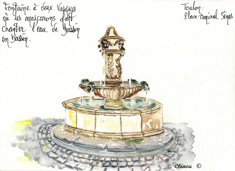 Fontaine place Amiral Sènes à Toulon