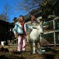 Claire et Violette, la chèvre
