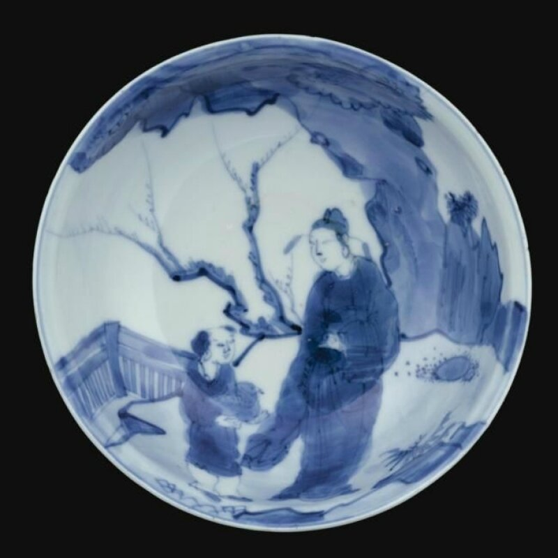 A blue and white bowl, Ming dynasty, Wanli period (1573-1620)