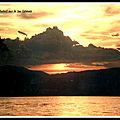 coucher soleil sur lac leman