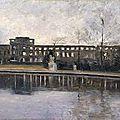 Ten Cate, Palais des Tuileries après l'incendie de 1871, vu depuis le grand bassin
