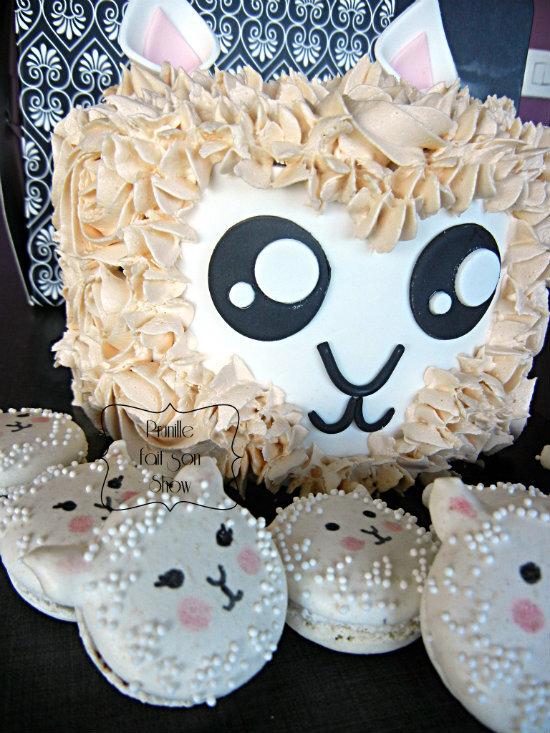 lama cake et ses macaron prunillefee
