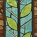 détail dalle de verre végétal - clotilde gontel