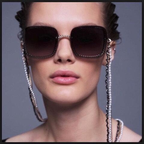 chanel lunettes solaires chaines et perles 3