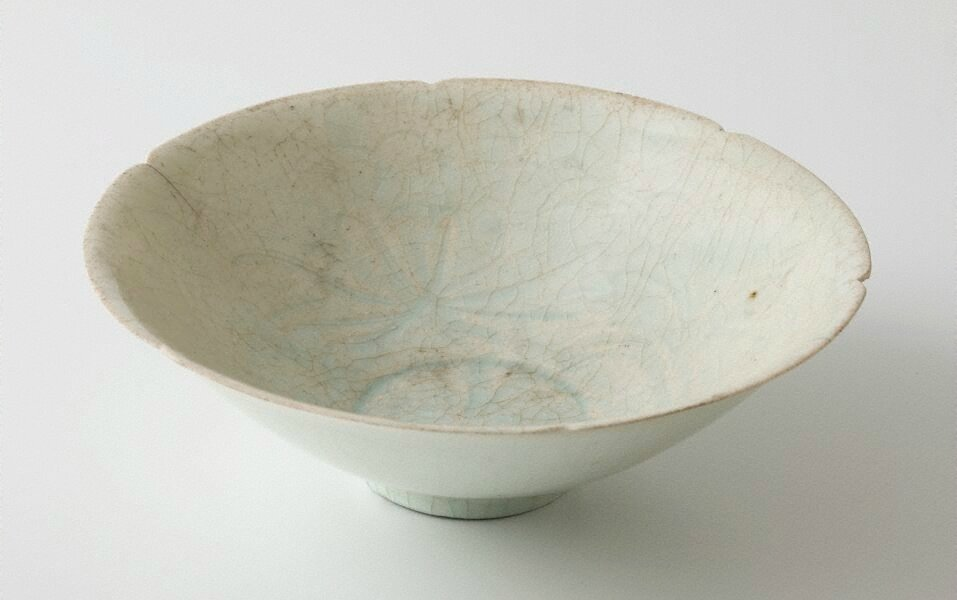 Bowl, Qingbai ware, Yingqing ware, China, Song dynasty (960 - 1279), Jingdezhen ware, Jiangxi Province, porcelain with 'qingbai' (bluish-green) glaze, 6.6 x 20.1 cm. Bequest of the Hon. Sir Colin Davidson 1961. EC2.1961. Art Gallery of New South Wales, Sy