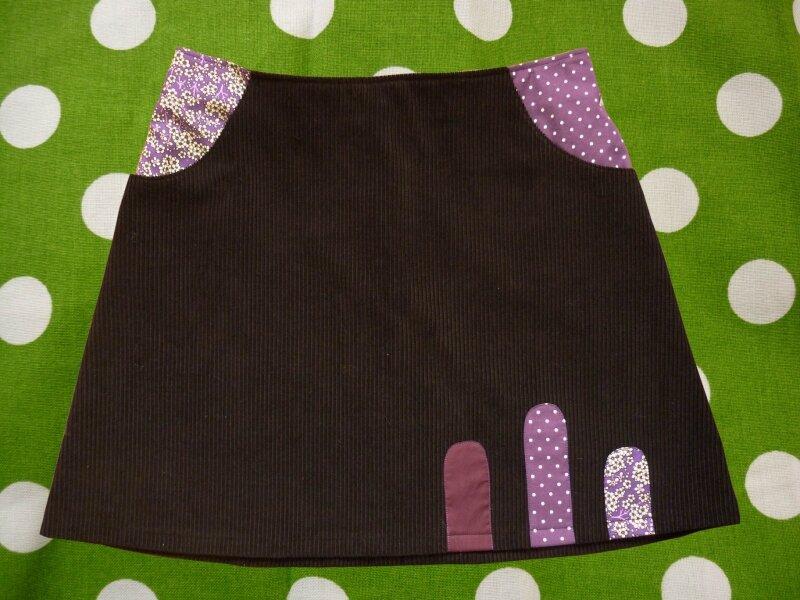 jupe courte velours noir