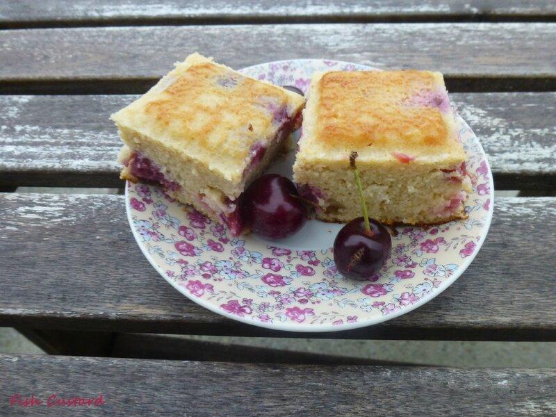 Gâteau aux cerises, amandes et ricotta (35)