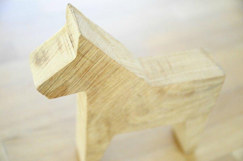 zoom cheval bois